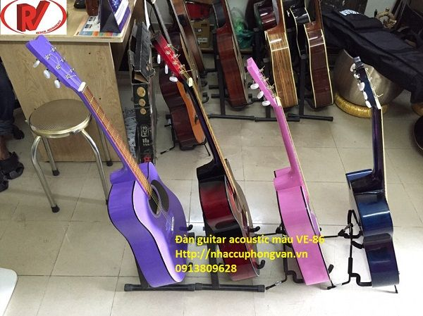 Đàn guitar acoustic màu VE-86
