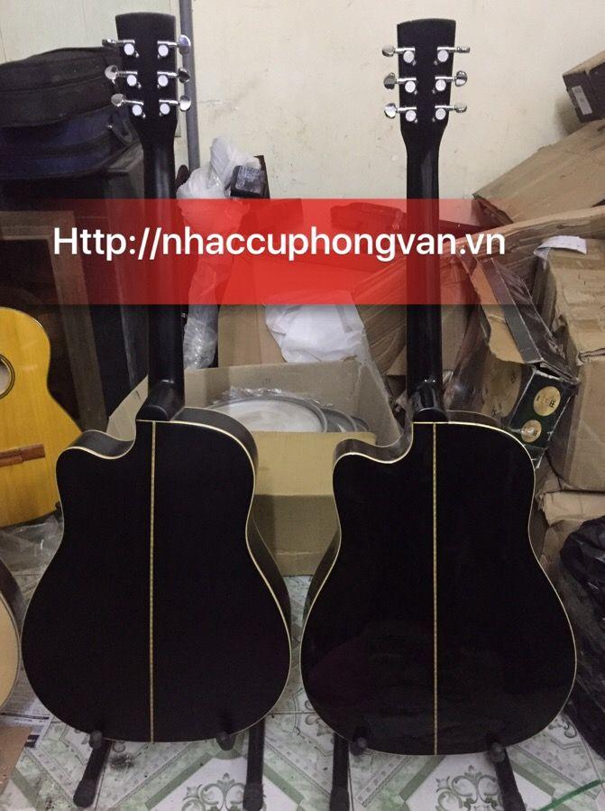 Đàn guitar gỗ hồng đào màu đen HDJ-150