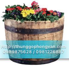 Mẫu thùng gỗ chậu gỗ trồng cây hoa độc lạ