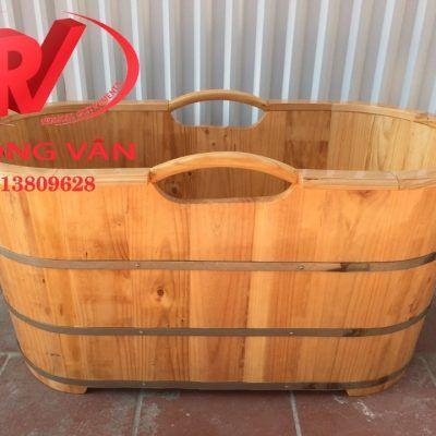 Bồn tắm gỗ thông dài 120 cmdata-cloudzoom =