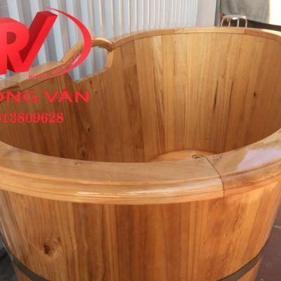 Bồn tắm gỗ thông dài 120 cm