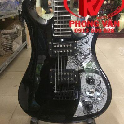 Đàn guitar điện phím lõm Fender đen