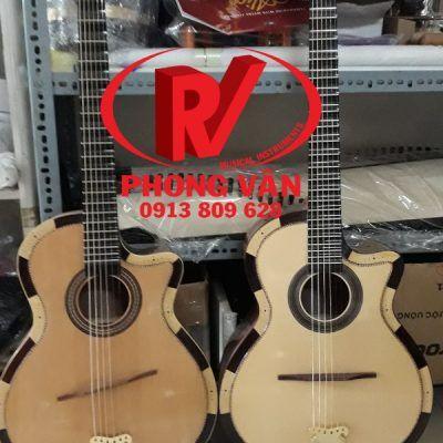 Đàn guitar cổ thùng phím lõm gỗ hồng đào