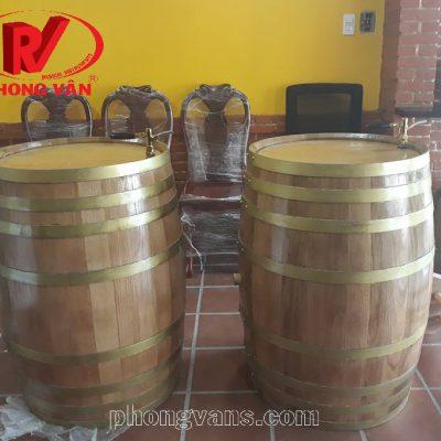 Bán sỉ thùng gỗ sồi ngâm ủ rượu vang