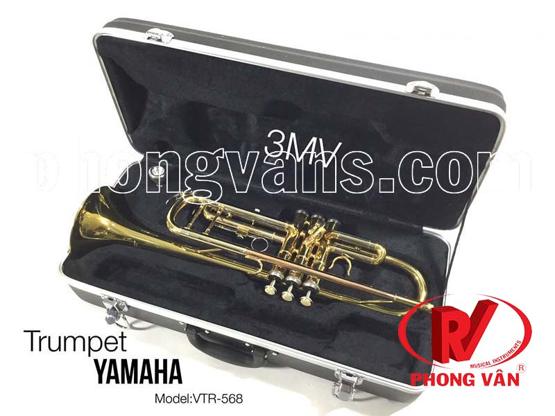 Kèn Trumpet Yamaha 3 màu loa vàng