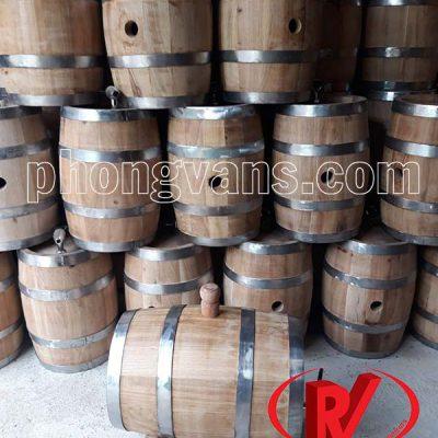 Thùng gỗ sồi đựng rượu vang 7 lít
