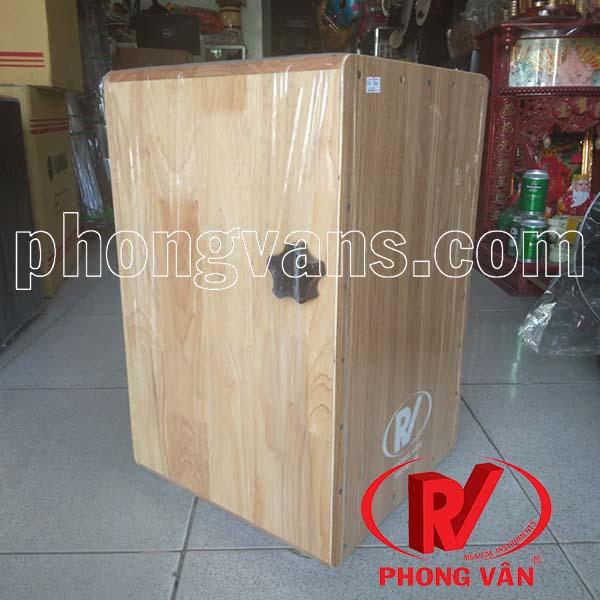 Trống cajon gỗ thông dây snare có EQ