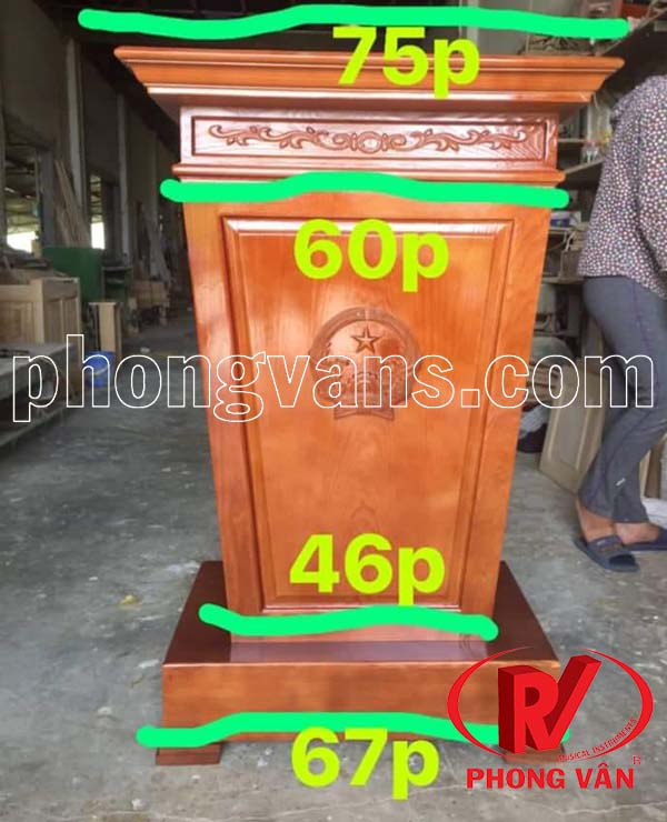 Giá bục gỗ tếch giả sồi tự nhiên