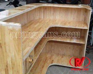 Thi công làm quầy thu ngân quán café bằng gỗ