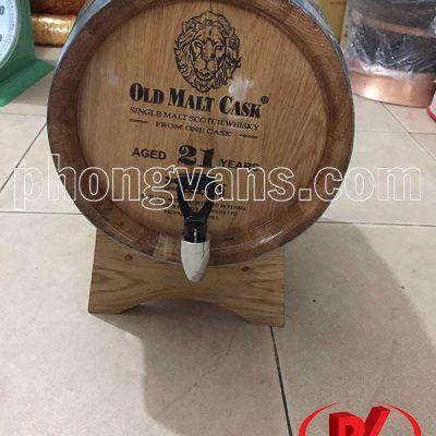 Thùng gỗ sồi đựng rượu 10 lít