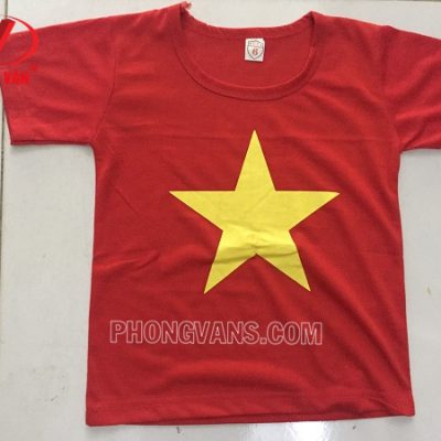 Áo cờ đỏ sao vàng cho trẻ em bé
