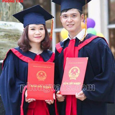 Áo cử nhân sinh viên đại học
