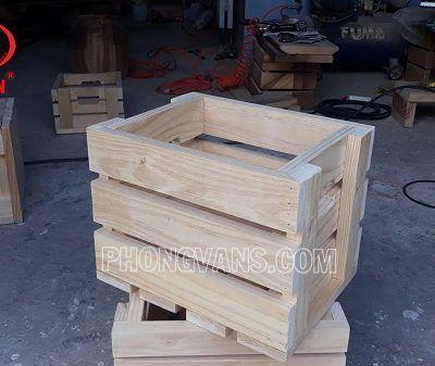 bán thùng gỗ pallet đựng trái cây