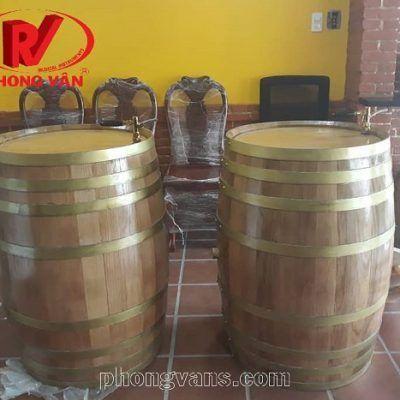 Bình ngâm rượu gỗ sồi nga 200 lít