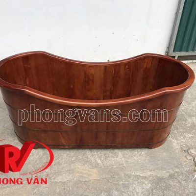 Bồn tắm gỗ oval dài 170 cm
