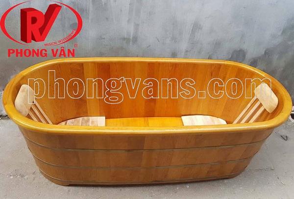 Bồn tắm gỗ pơmu dài 1m6 160 cm