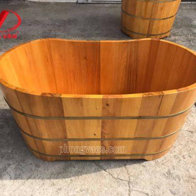 Bồn tắm gỗ ovaldata-cloudzoom =