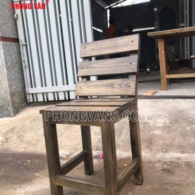 Ghế lưng tựa gỗ thông