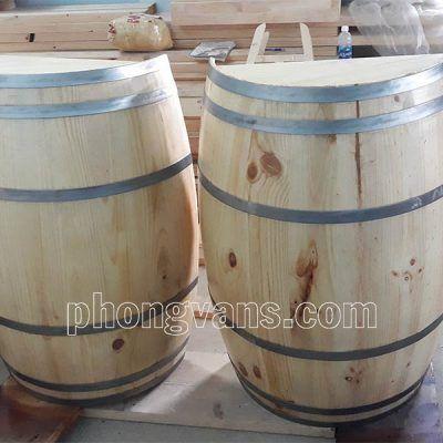 Thùng gỗ rượu vang trang trí