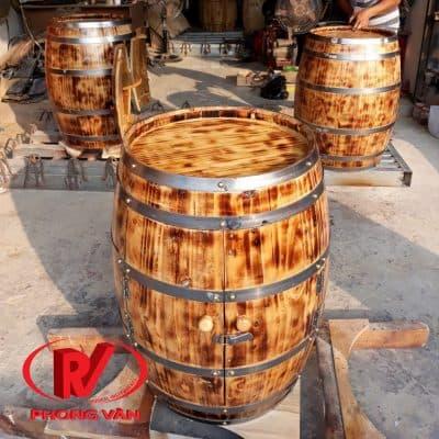Thùng gỗ sồi trang trí