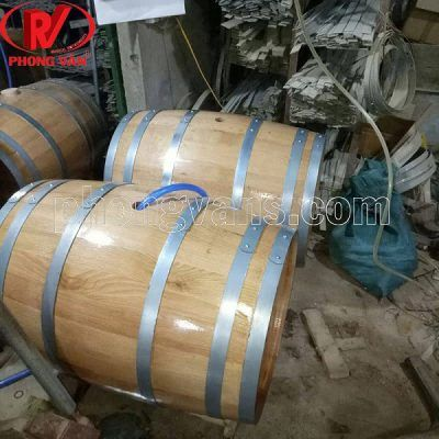 Thùng gỗ sồi ủ rượu 200 lít