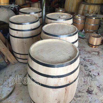 Thùng gỗ thông trưng bày cao 9 tấc
