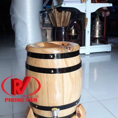 Trống gỗ đựng rượudata-cloudzoom =