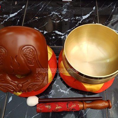 Bộ chuông mõ Đài Loan vàng 8 in