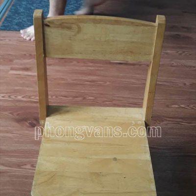 Ghế mầm non gỗ cao su