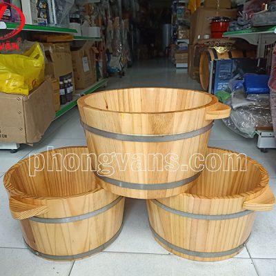Thau ngâm chân bằng gỗ