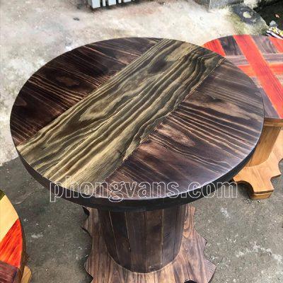 Bàn rulo gỗ thông cao 75 cm