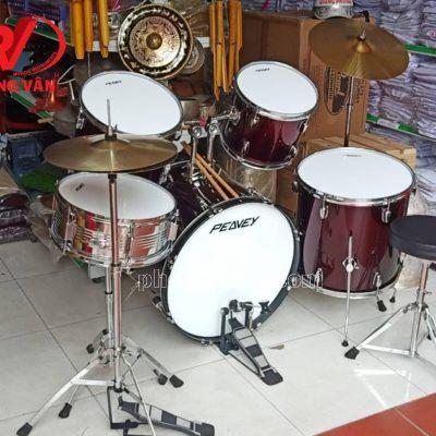 Bộ trống jazz Peavey drum màu đỏ bầm