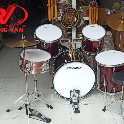 Bộ trống jazz Peavey drum màu đỏ bầmdata-cloudzoom =
