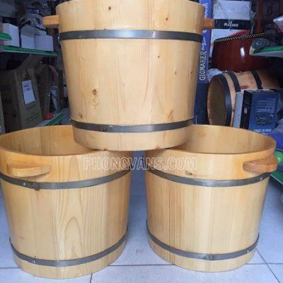 Chậu gỗ ngâm chân cao 35cm đến đầu gối