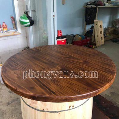 Mặt bàn gỗ thông rộng 1 mét