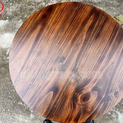 Mặt bàn gỗ thông tròn 60cm màu giả cổdata-cloudzoom =