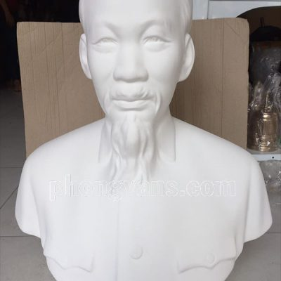 Tượng bán thân Bác Hồ thạch cao trắng 65 cmdata-cloudzoom =