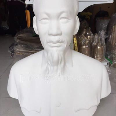 Tượng bán thân Bác Hồ thạch cao trắng 65 cm