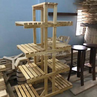Kệ gỗ đa năng trang trí để cây cảnh