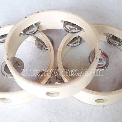 Trống lắc tay tambourine gỗ không mặt