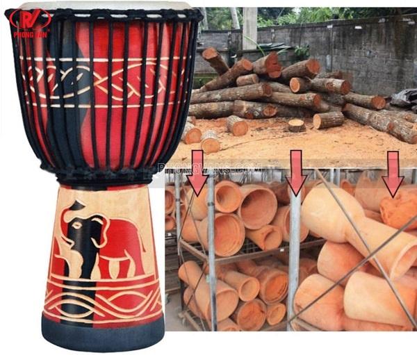 Bán sỉ trống djembe kéo dây gỗ 10 inch
