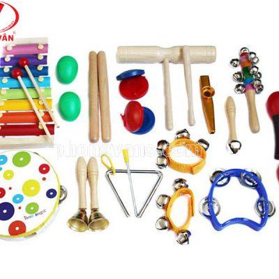 Bộ nhạc cụ trẻ em học nhạc 19 món