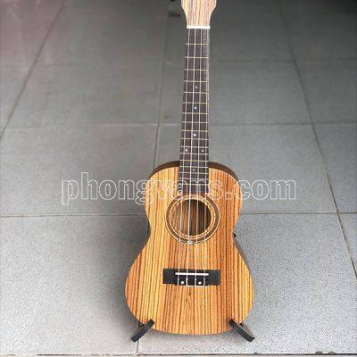 Đàn ukulele gỗ tự nhiên kẻ sọc