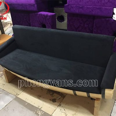 Ghế sofa bọc nệm bằng thùng trống gỗ dài 1m7