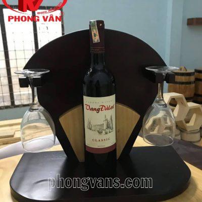 Kệ rượu treo ly bằng gỗ