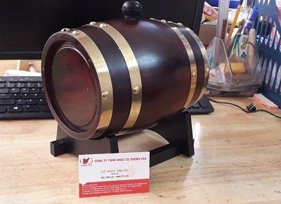Trống rượu vang gỗ 1.5 lít kèm túi đựng