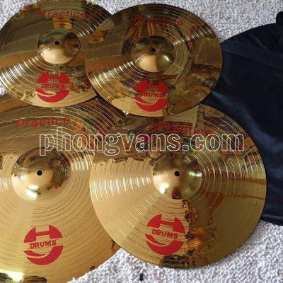 Bộ cymbal 4 lá bằng đồng Drums