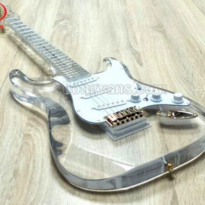 Đàn guitar điện solo pha lê acrylic trong suốt