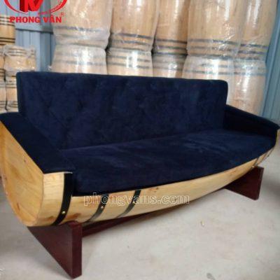 Ghế sofa từ thùng rượu gỗ