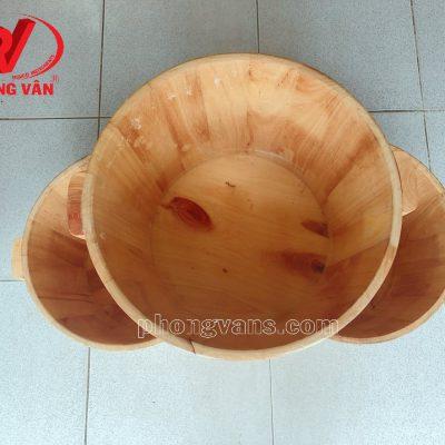 Thau ngâm chân gỗ thông cao 30 cm